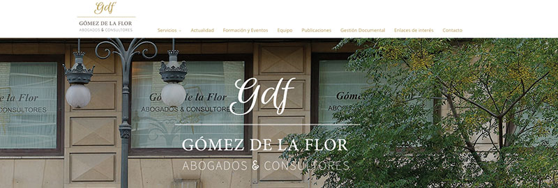 Nueva imagen Gómez de la Flor: Logotipo y página web