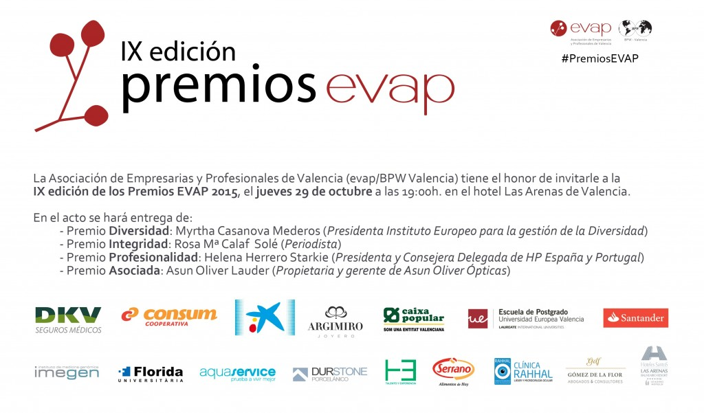 Invitacion Premios EVAP 2015