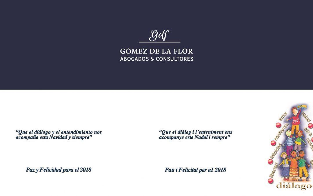 Gómez de la Flor Abogados y Consultores os desea una Feliz Navidad