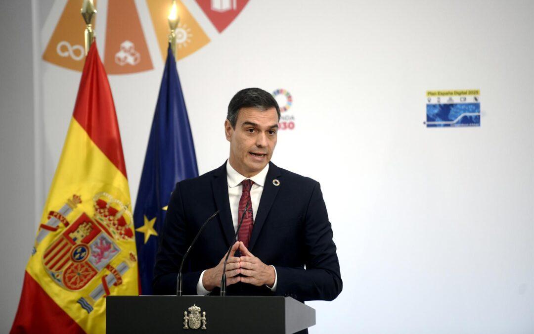 Sánchez anuncia 47 medidas y 140.000 millones de euros para la digitalización de España